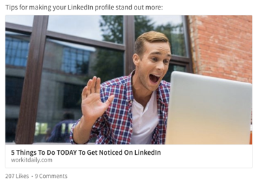 what to share on linkedin